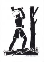 art scout n° 115 dessin au pochoir faucon tenace bas